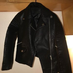 Jackets & Blazers - Faux leather biker jacket